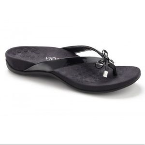 Vionic Bella ll Black Flip Flop Toe Post Sandal 8